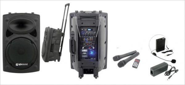 "Ibiza Port15VHF-BT Impianto PA 15"",USB, AUX, MP3, WMA"