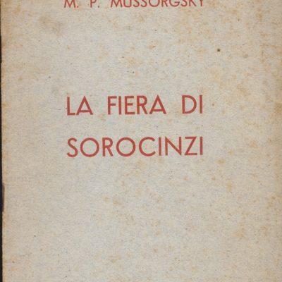 La Fiera di Sorocinzi - M.P. Mussorgsky (Libretto)