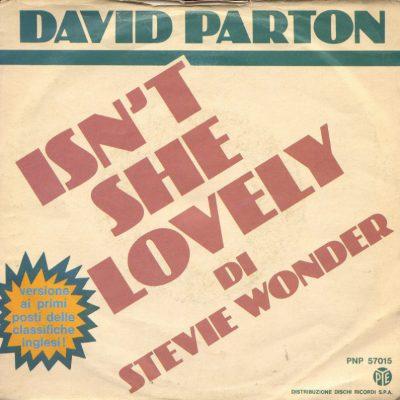 David Parton - Isn't she lovely
