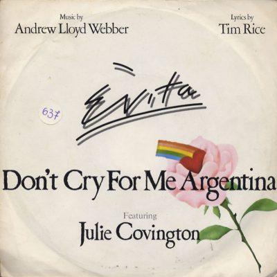 Julie Covington -Don't cry for me Argentina
