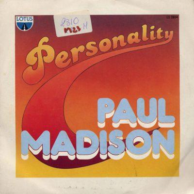 Paul Madison - Personality