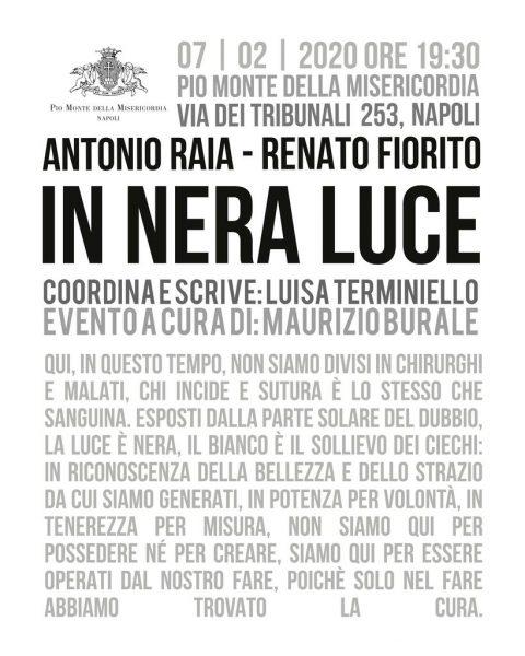 Renato Fiorito e Antonio Raia. In nera luce - Performance dedicata alle Sette Opere di Misericordia di Caravaggio