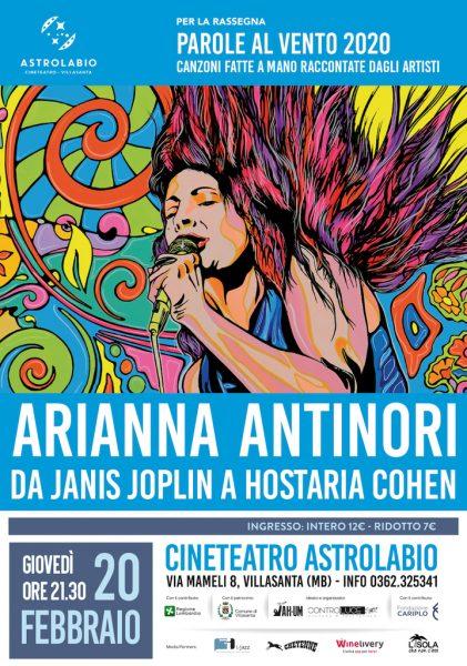 Omaggio di Arianna Antinori a Janis Joplin. Parole al vento - V edizione