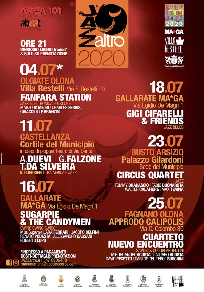 JazzAltro 2020 - Undicesima stagione, prima parte