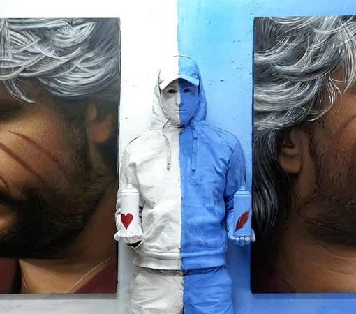 Jorit realizzerà a Napoli un murale dedicato a Pino Daniele