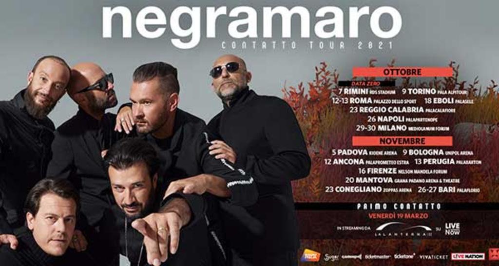 Negramaro - Contatto Tour 2021 (Biglietti)