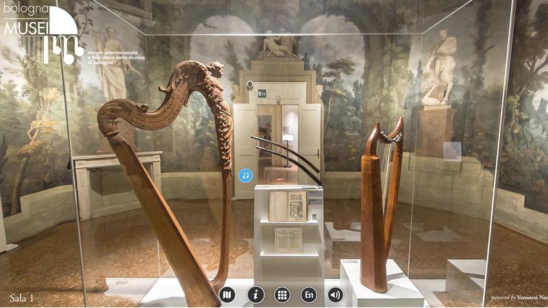 Visita virtuale immersiva a 360° del Museo della Musica di Bologna