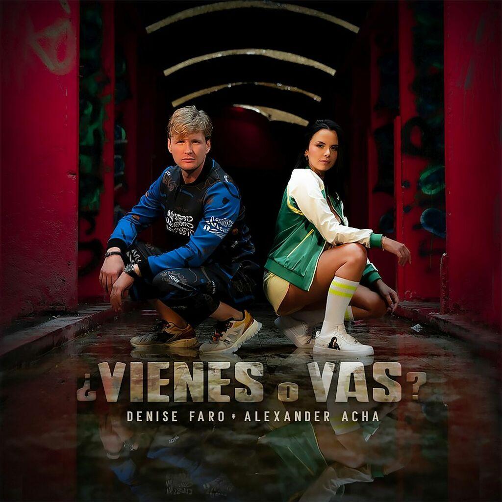 "Denise Faro insieme a Alexander Acha nel brano ""¿Vienes o vas?"""