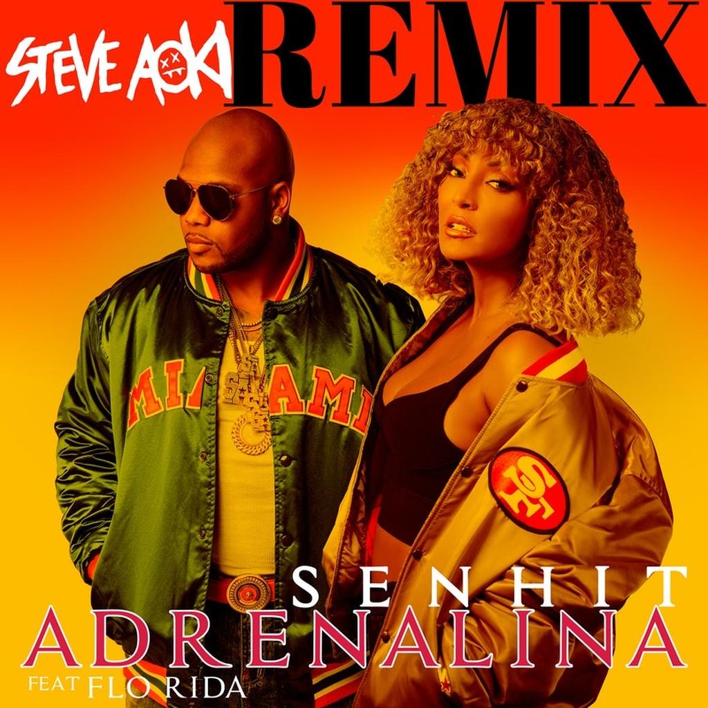 "È uscito in radio e in digitale il remix di ""Adrenalina"" di Senhit (ft. Flo Rida - Steve Aoki remix)"